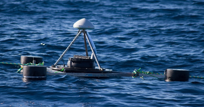 GPS buoys used for deployment over the moored oceanographic instruments.