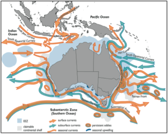 Boundary Currents in the Australian region (image provided by CSIRO)