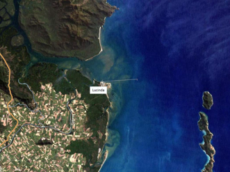 High spatial resolution satellite image of the Lucinda Jetty