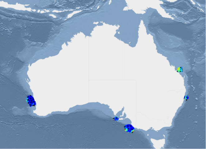 Ocean Radar IMOSorgau – Australia Ocean Map