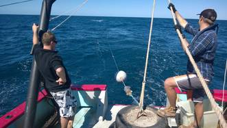 Streaming Coffs Harbour 70m Temperature Mooring before deployment.